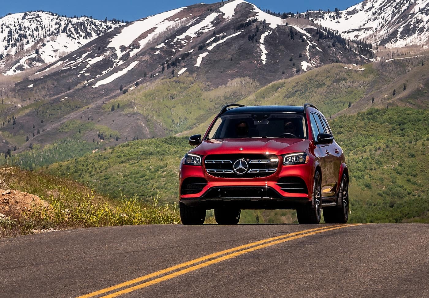 Red Mercedes-Benz GLS