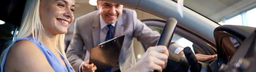 Test Driving at Dealership