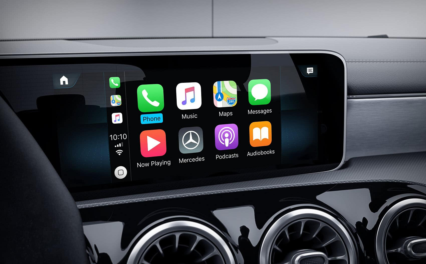 2021 Mercedes A-Class Interior with Apple CarPlay® Technology