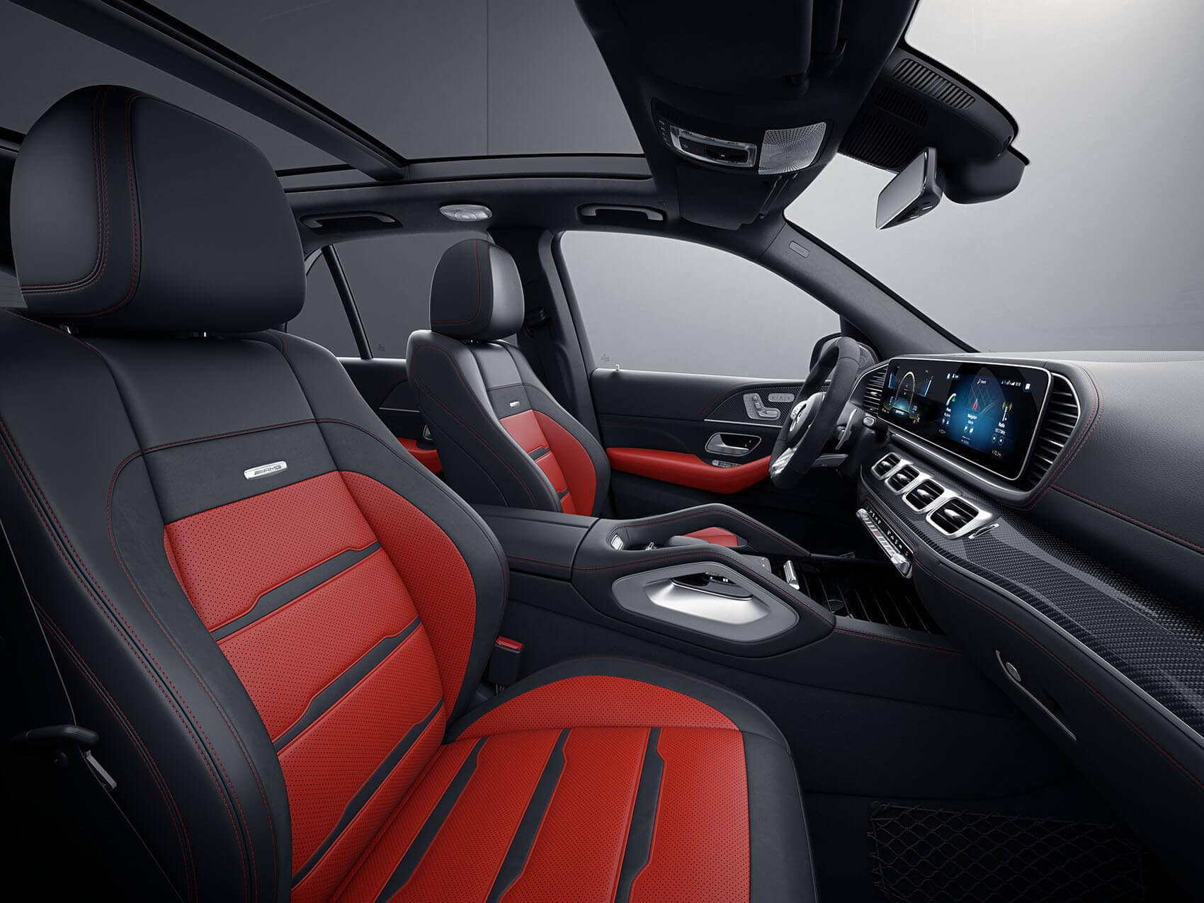 Mercedes-Benz GLE Interior Red