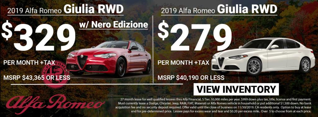 2019 Alfa Romeo Giulia Lease