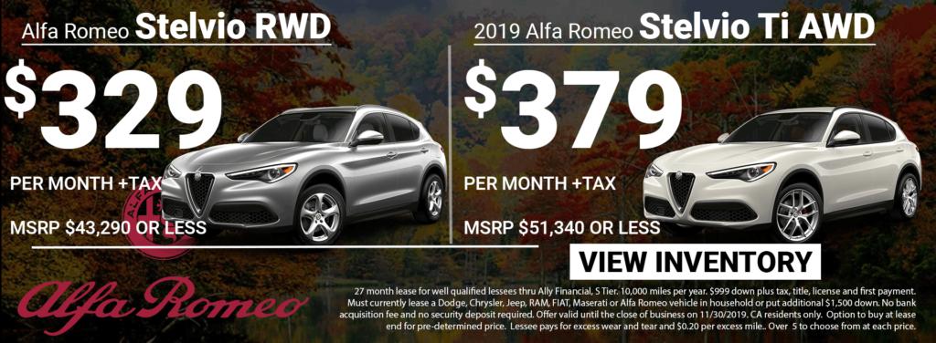 2019 Alfa Romeo Stelvio Lease