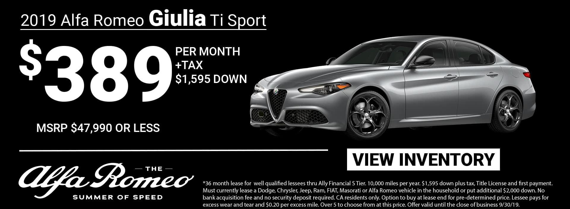 Giulia Ti Sport Lease