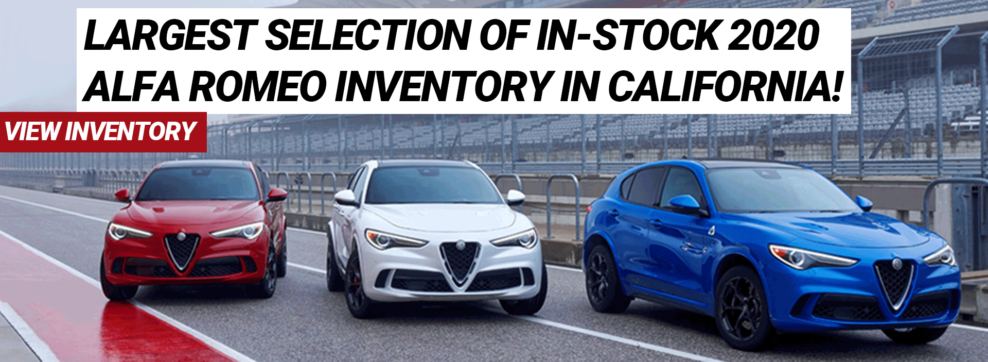 Largest Selection of In-Stock 2020 Alfa Romeo Inventory in California