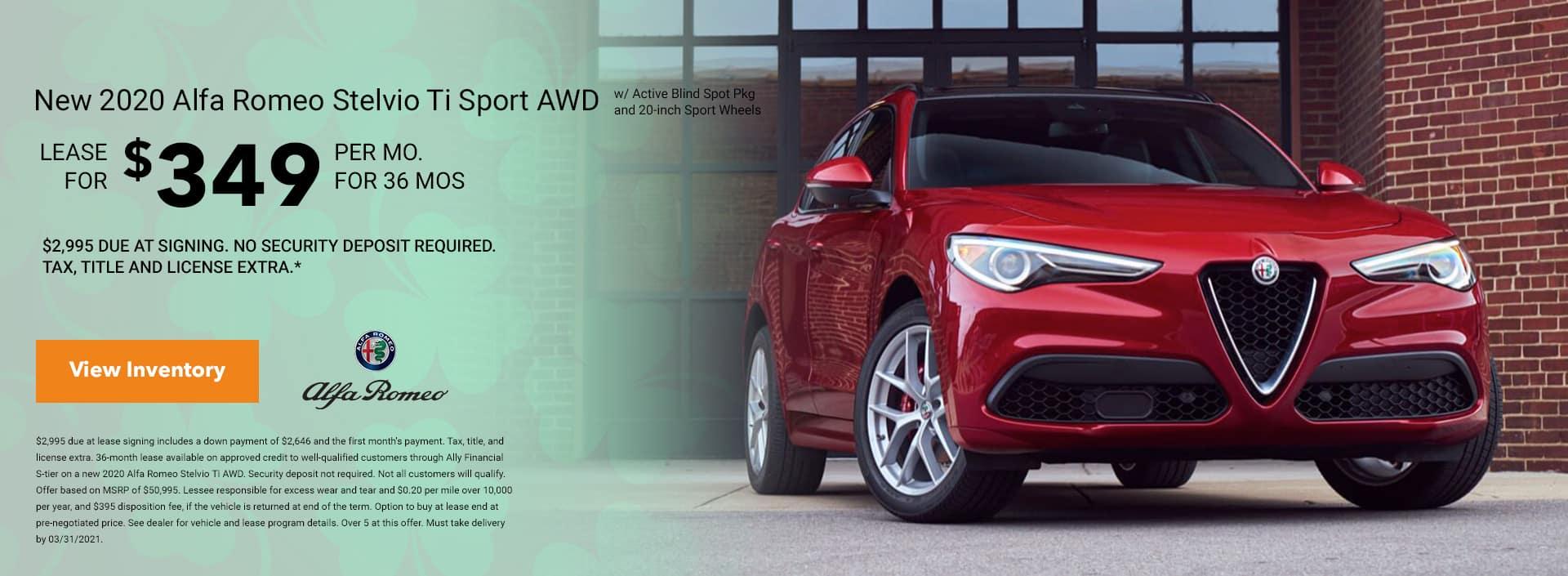 2020 Alfa Romeo Stelvio Ti AWDw/ Active