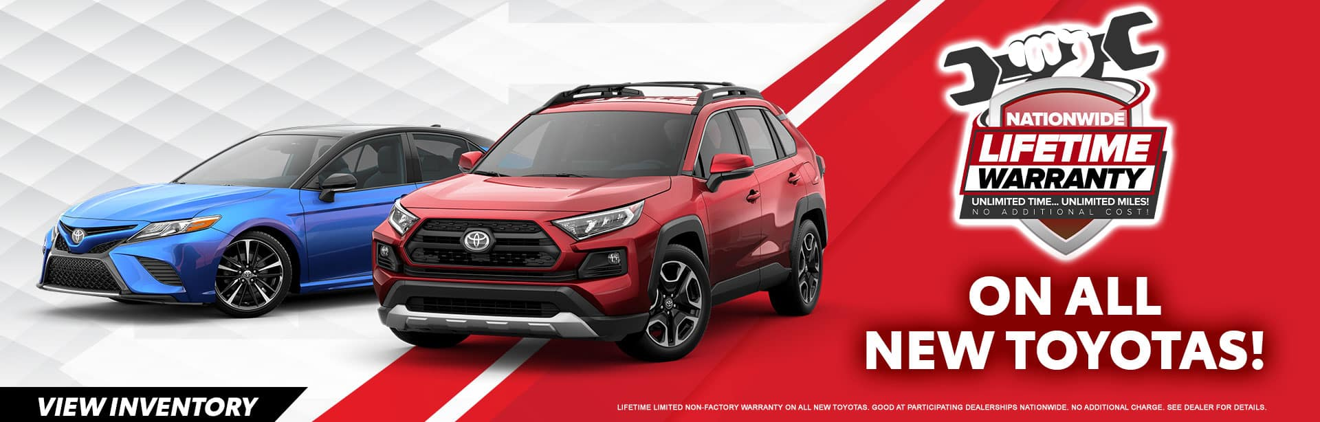 NATIONWIDE LIFETIME WARRANTY ON ALL NEW TOYOTAS AT BEV SMITH TOYOTA