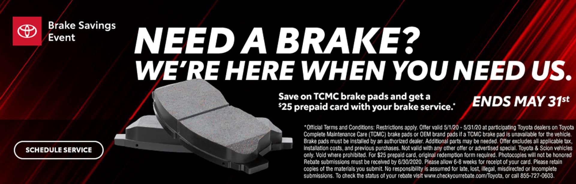 Brakes Savings at Bev Smith Toyota