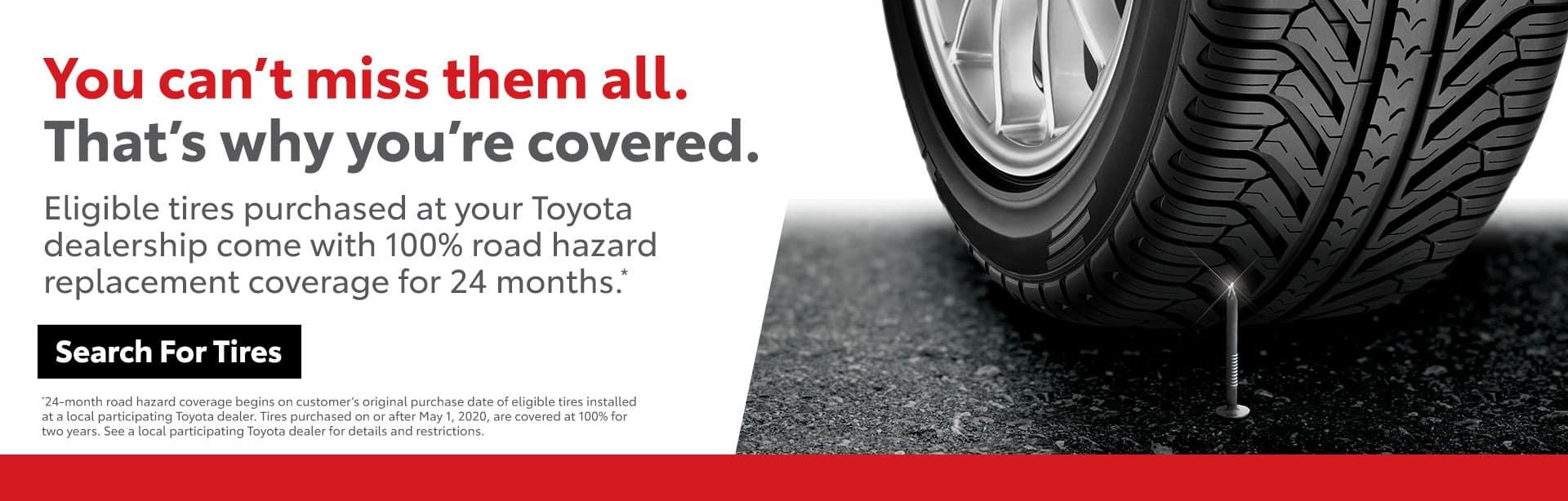 Road Hazard Coverage at Bev Smith Toyota