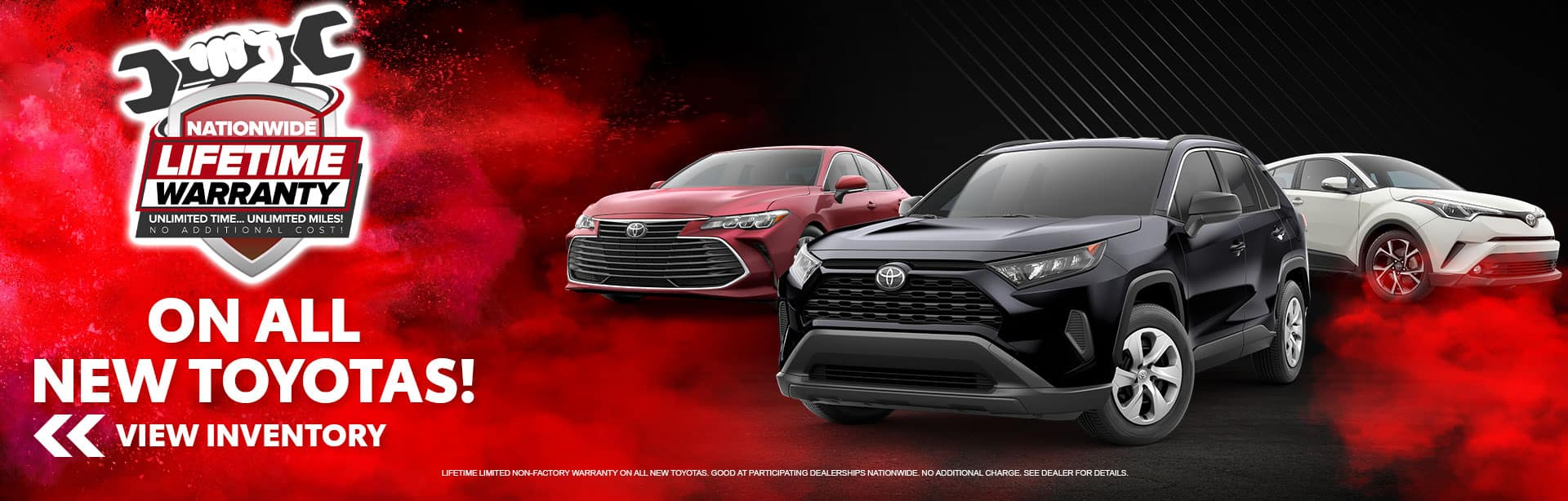 Nationwide Lifetime Warranty on all New Toyotas at Bev Smith Toyota!