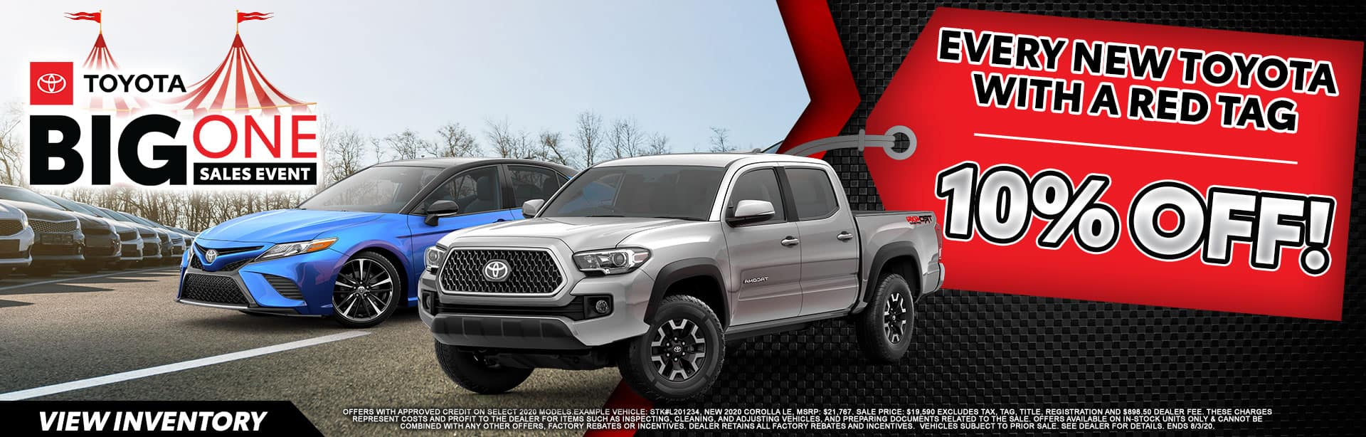 10% OFF every New vehicle with Red Tag at Bev Smith Toyota!