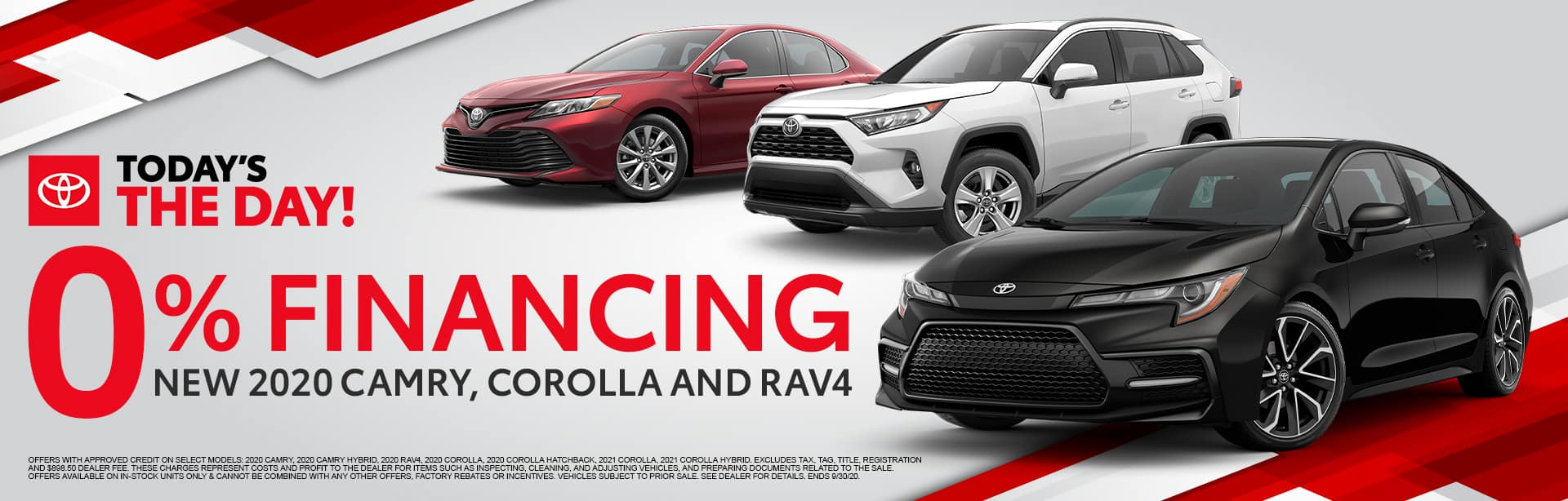 0% Financing for New 2020 Camry, Corolla and RAV4 at Bev Smith Toyota!
