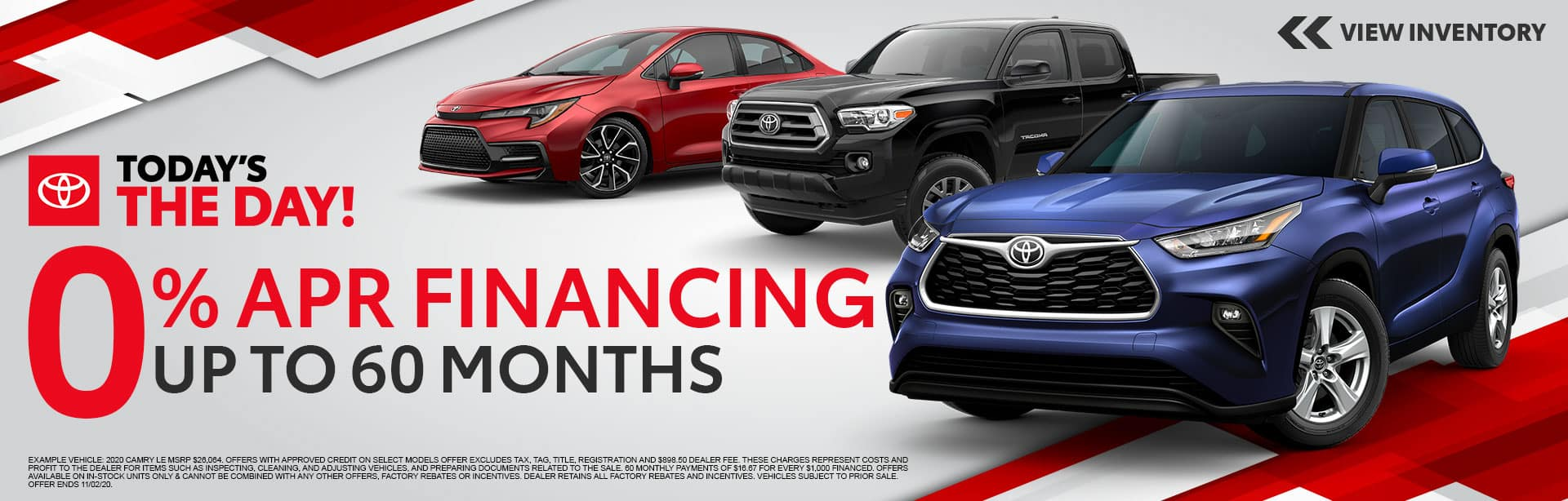 0% APR Financing for up to 60 Months at Bev Smith Toyota!