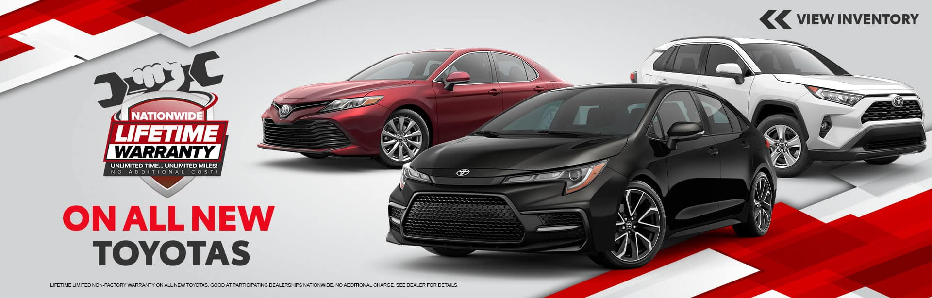 Lifetime Warranty on All new Toyotas at Bev Smith Toyota!