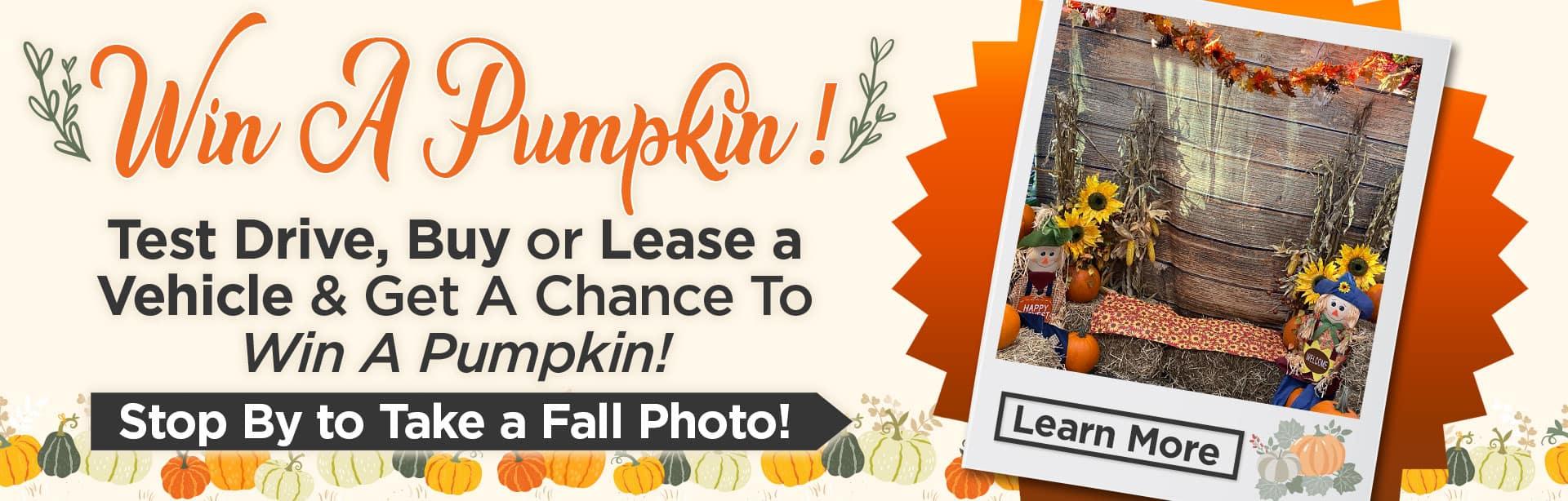 Win a Pumpkin at Bev Smith Toyota!