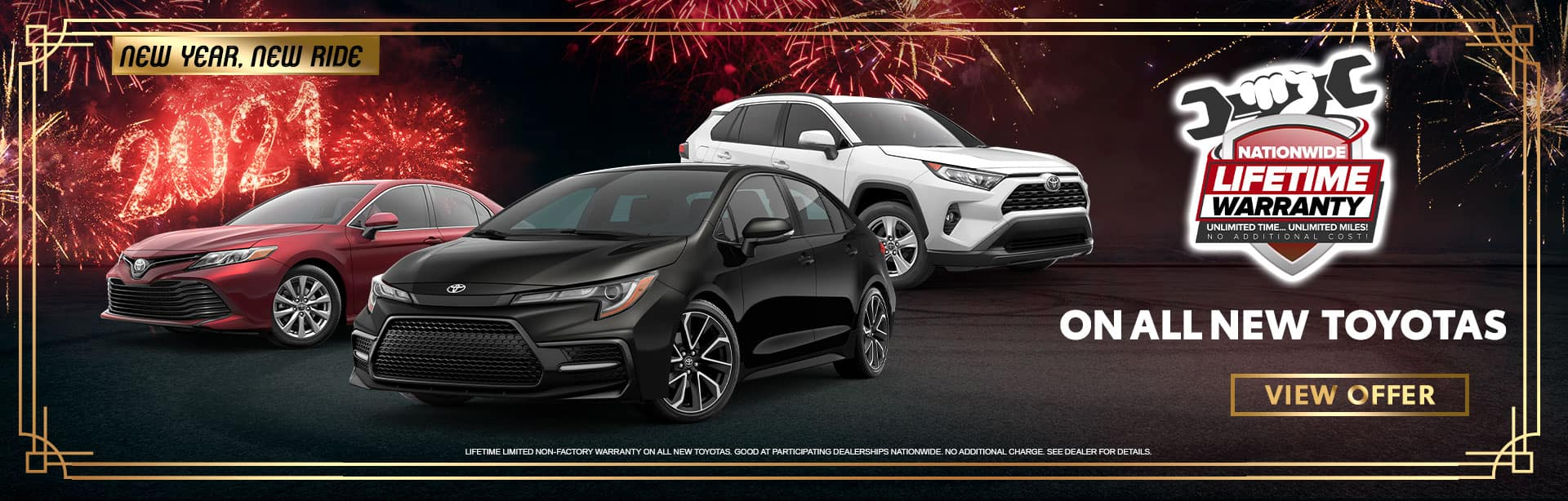 Nationwide Lifetime Warranty on All New Toyotas