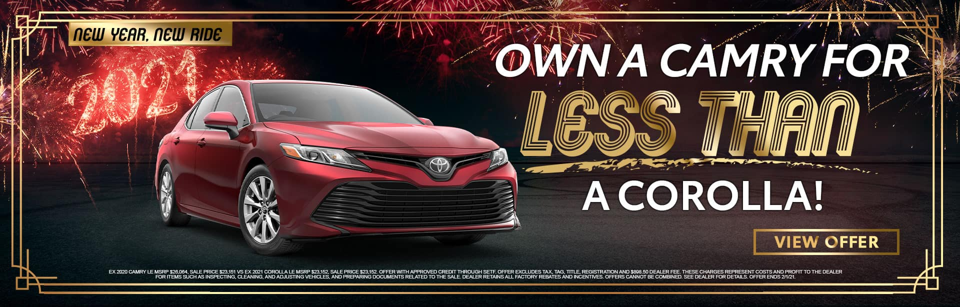 Own a Camry for Less Than a Corolla | Bev Smith Toyota