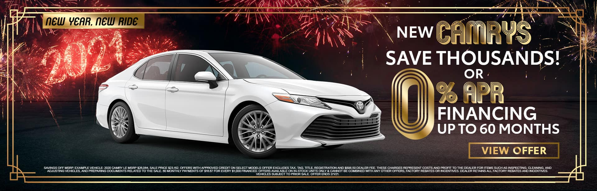 Amazing Savings on New Camrys at Bev Smith Toyota