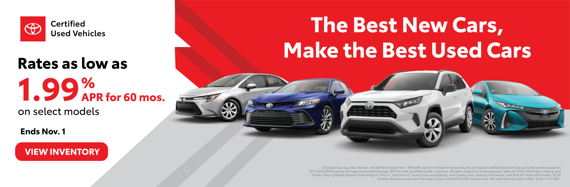Toyota Certified Used Sales Event Offer