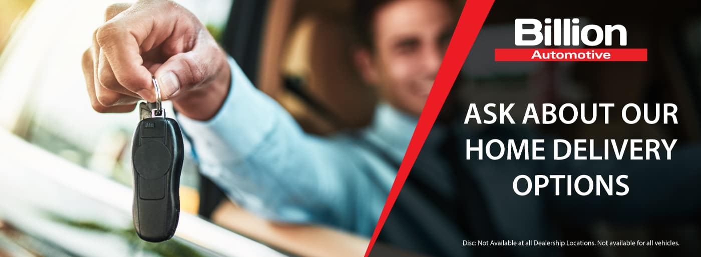 Ask about Billion Auto's home delivery options.