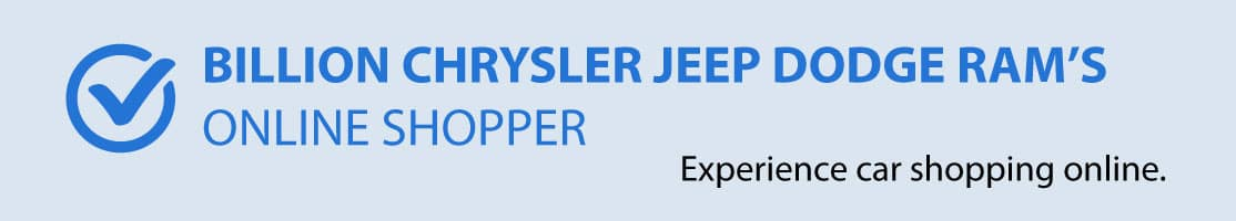 Billion Chrysler Jeep Dodge Ram's Online Shopper