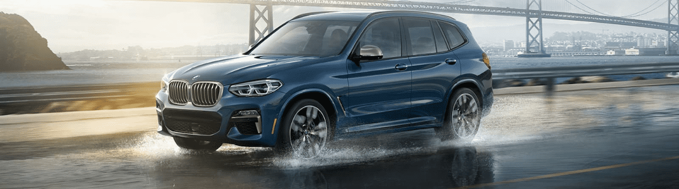 Blue BMW SUV