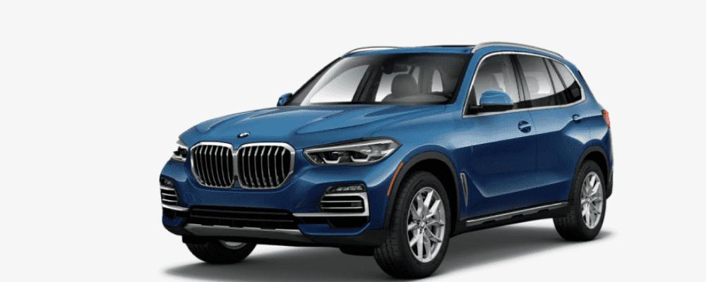 Blue BMW X5