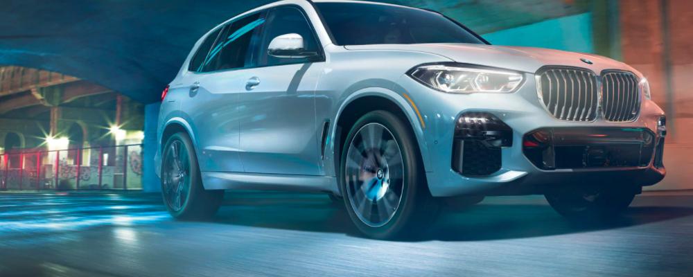White BMW X5 Driving