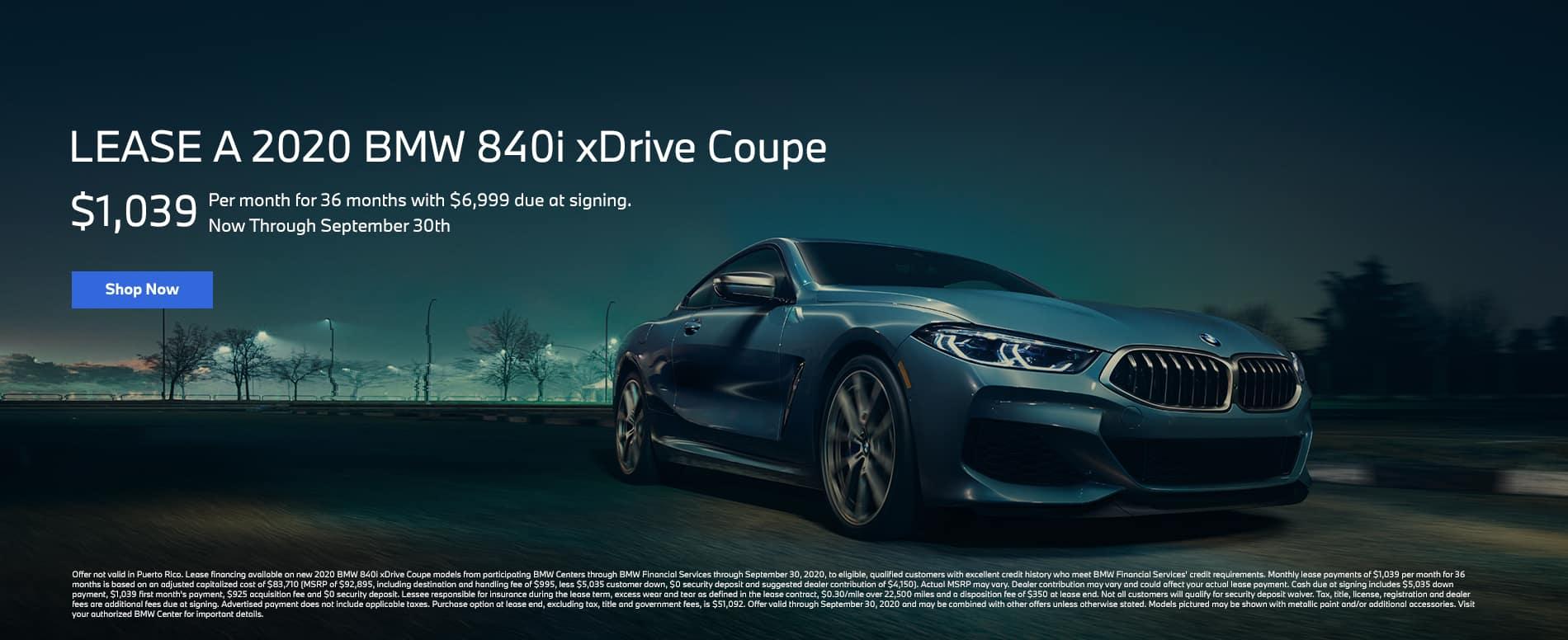 2020 840i lease
