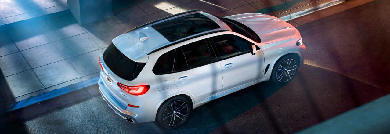 An overhead view of a new 2020 BMW X5