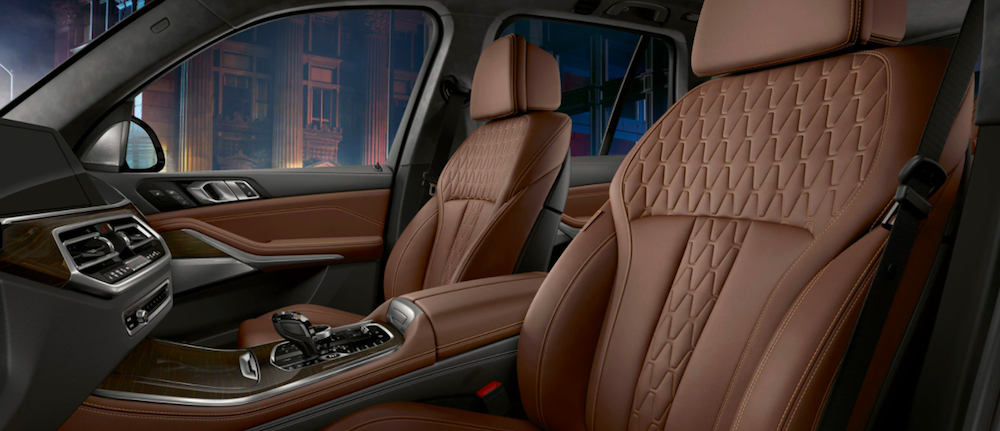 The luxurious 2020 BMW X5 interior