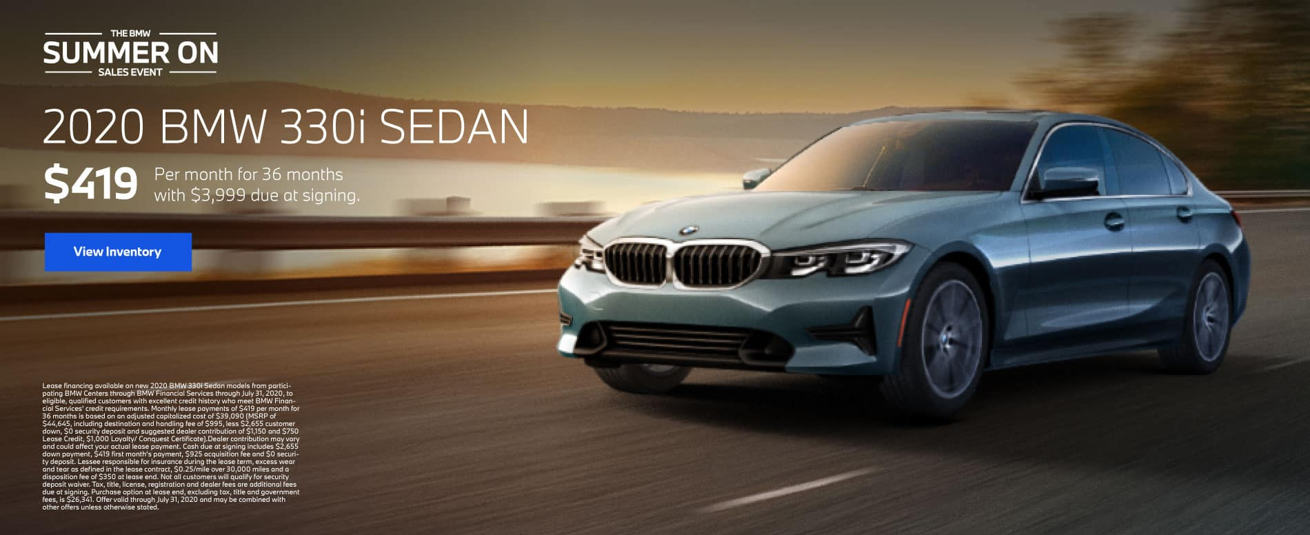 2020 BMW 330i Sedan $419 a month for 36 months | View Inventory