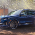 A 2020 BMW X7 parked in a driveway