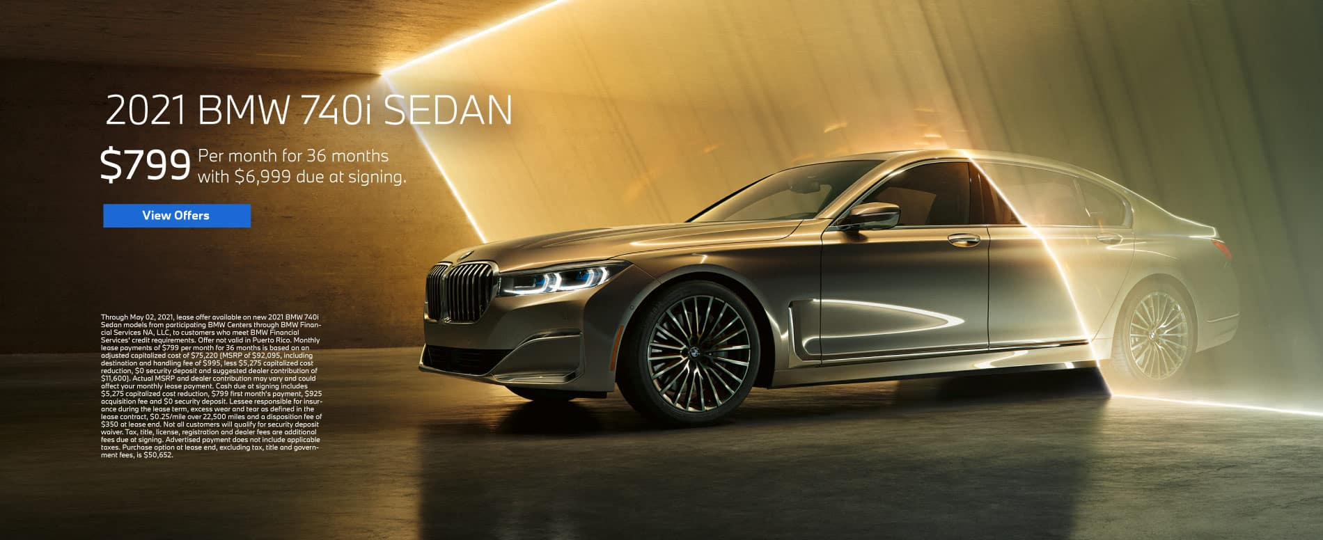 New 2021 BMW 740i SEDAN - $799 Per month for 36 months with $6999 due at signing