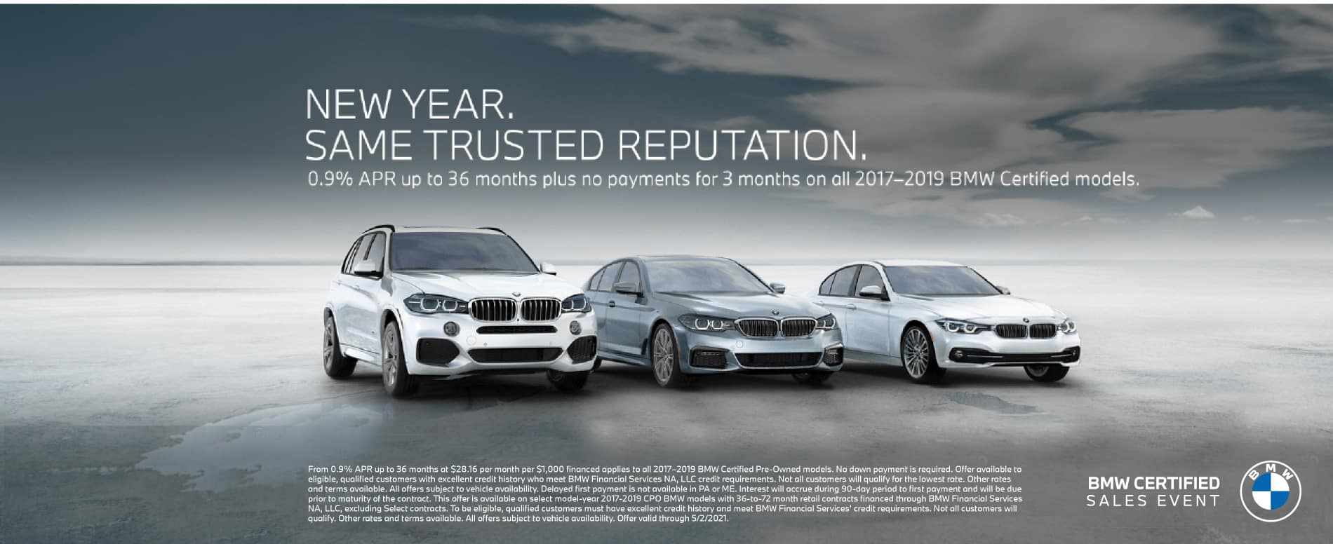 0.9% APR up to 36 months on BMW Certified models