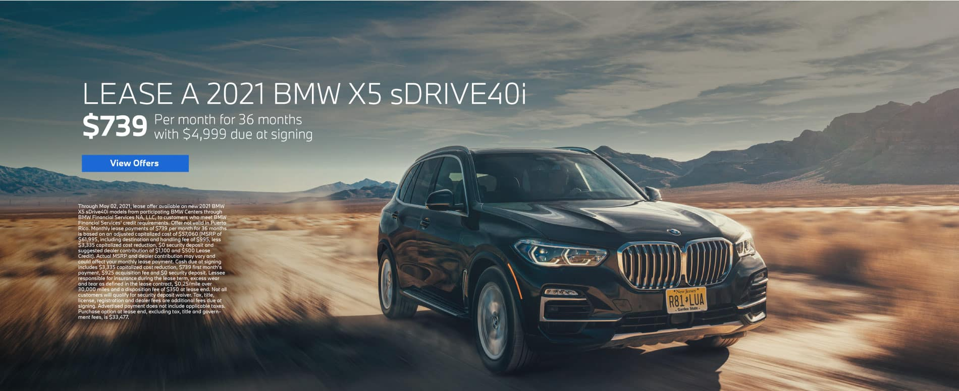 Lease a 2021 BMW X5 for $739 per month - View Offers