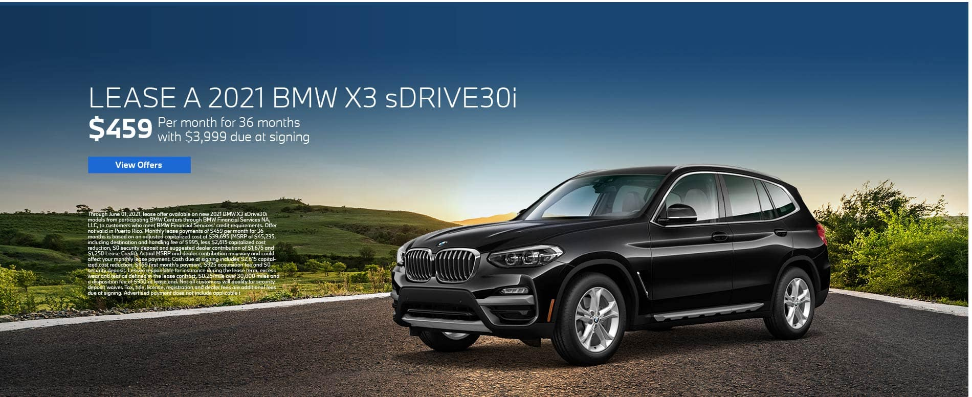 Lease a 2021 BMW X3 for $459 per month - View Offers