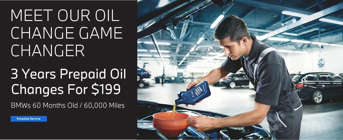 bmw oil change offer