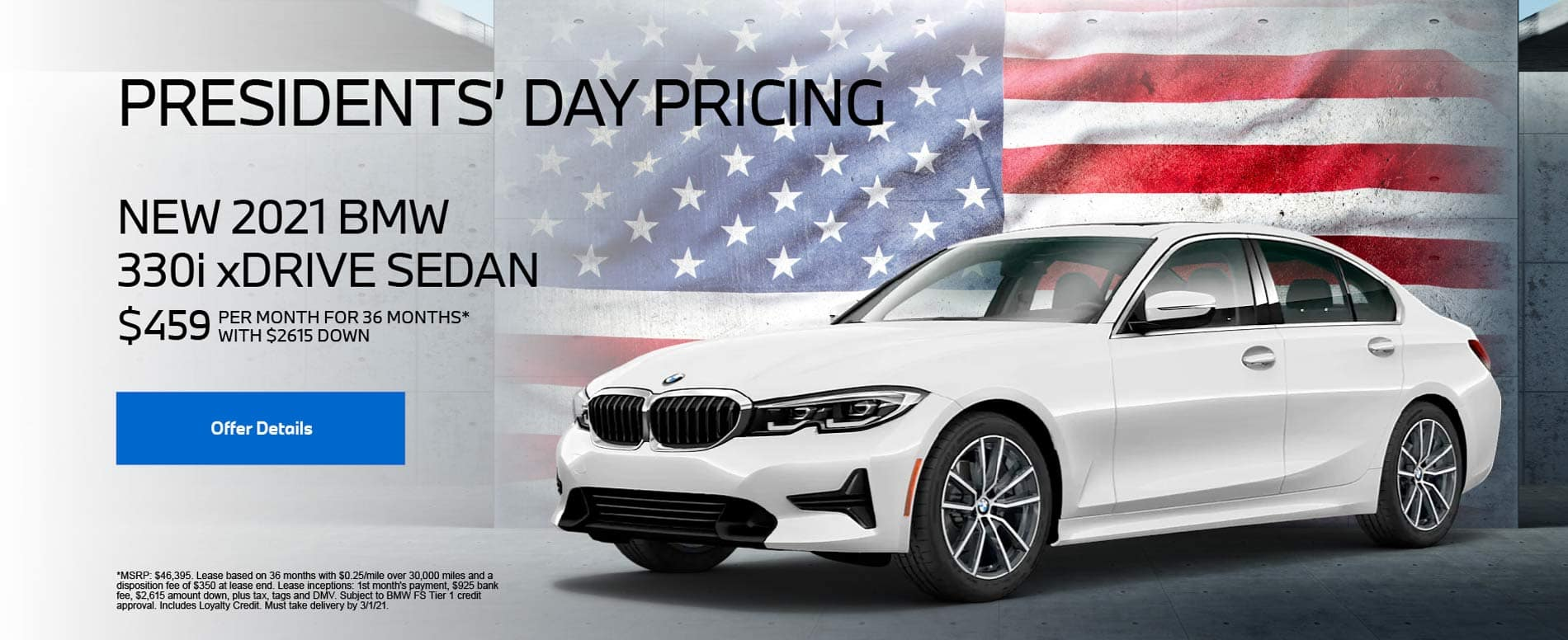 New 2021 BMW 330i xDrive Sedan $459 PER MONTH FOR 36 MONTHS* WITH $2,615 DOWN