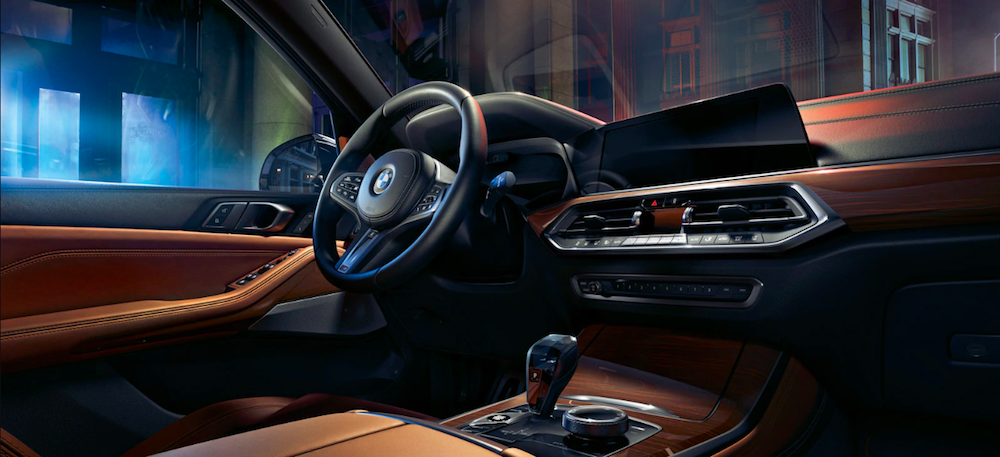 Interior dashboard view of a 2020 BMW X5