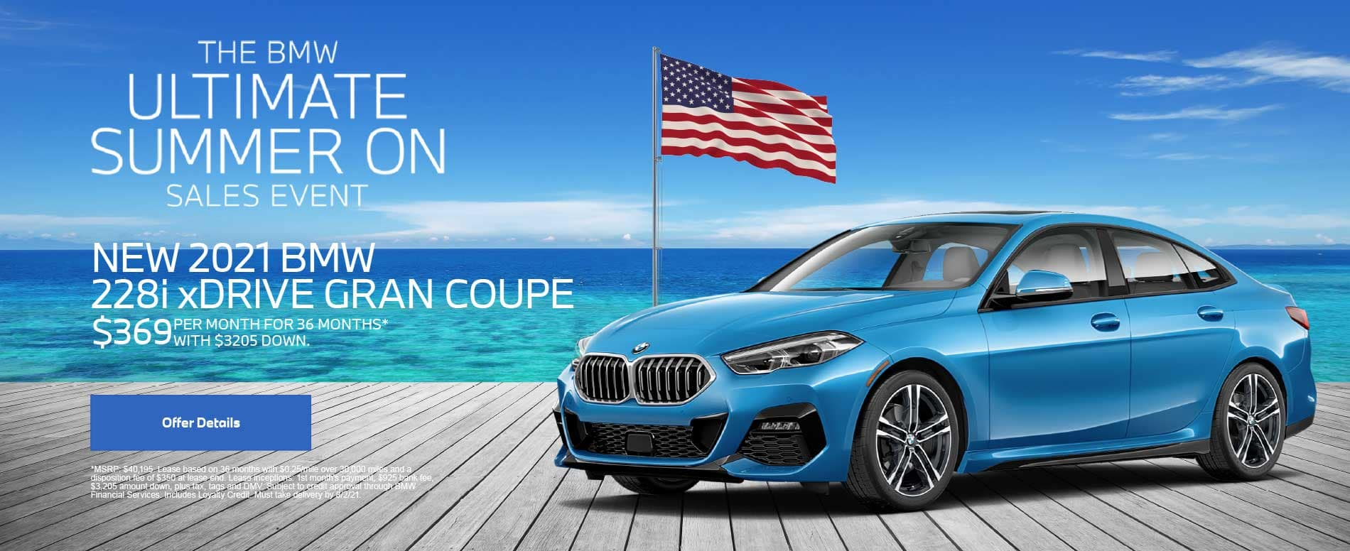 NEW 2021 BMW 228i xDRIVE GRAN COUPE $369 PER MONTH FOR 36 MONTHS* WITH $3205 DOWN.