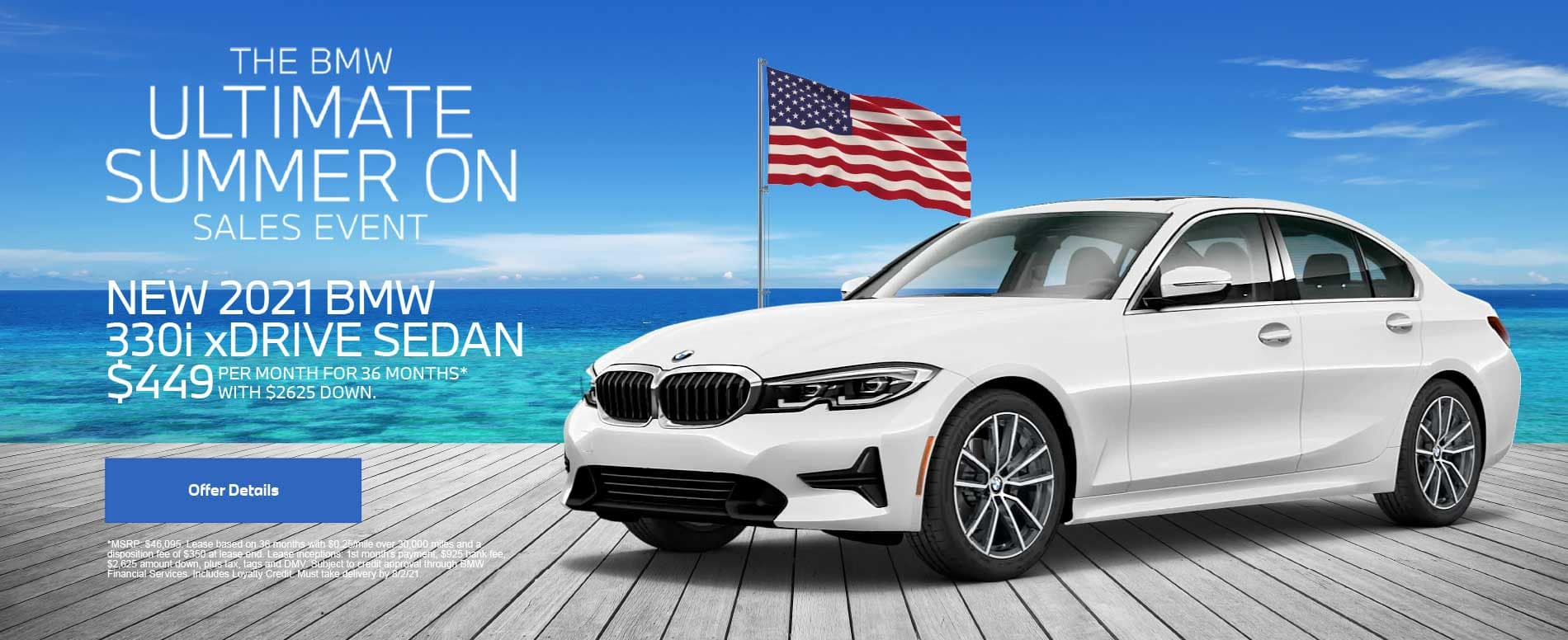 NEW 2021 BMW 330i xDRIVE SEDAN $449 PER MONTH FOR 36 MONTHS* WITH $2625 DOWN.