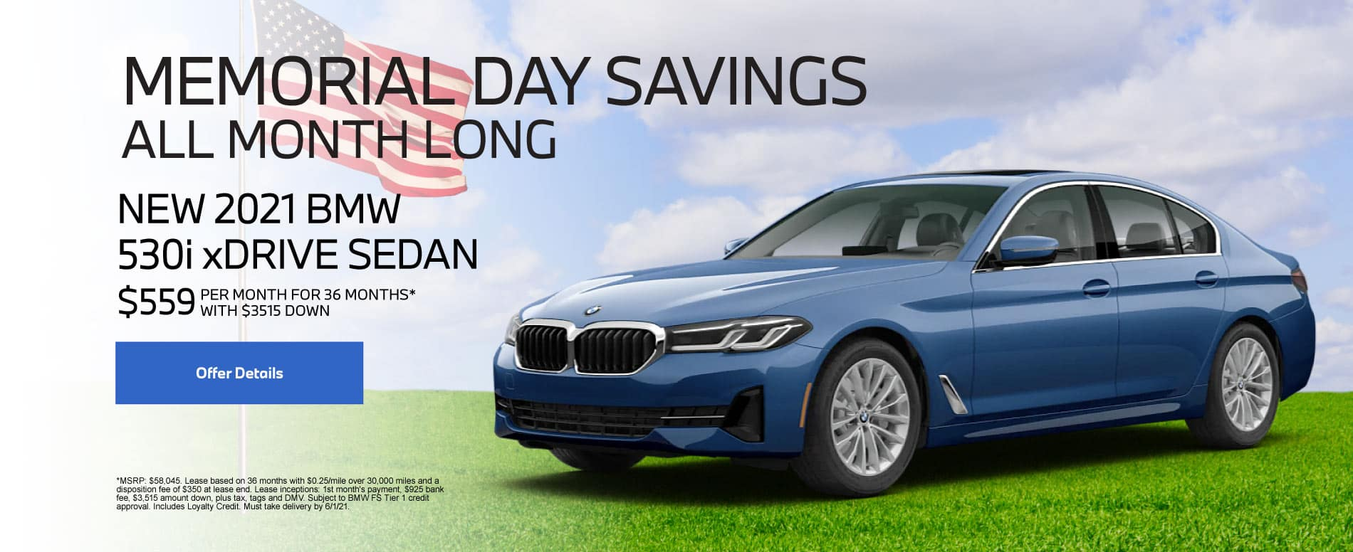 New 2021 BMW 530i $559 per month - Click for Details