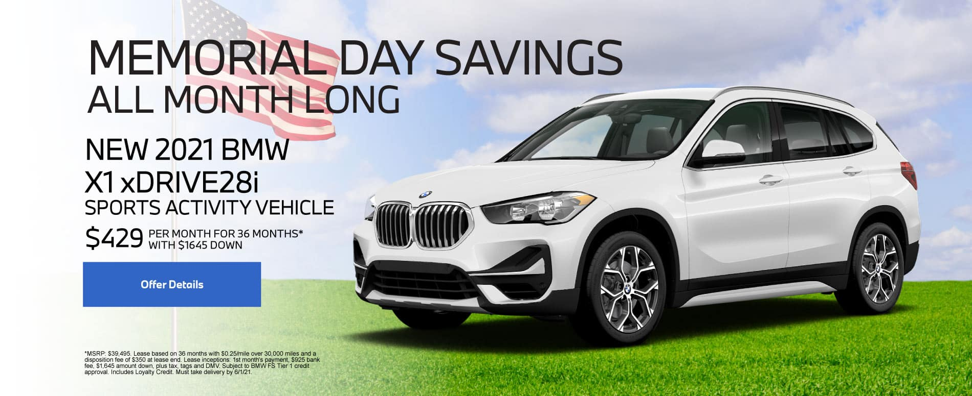 New 2021 BMW X1 $429 per month - Click for Details