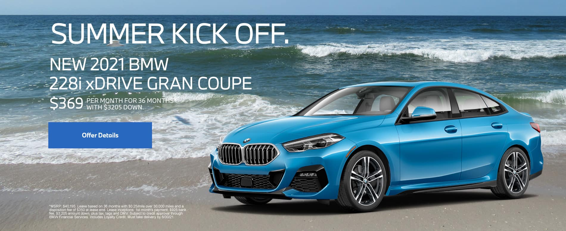 New 2021 BMW 228i xDrive Gran Coupe - $369 per month for 36 months With $3205 down*