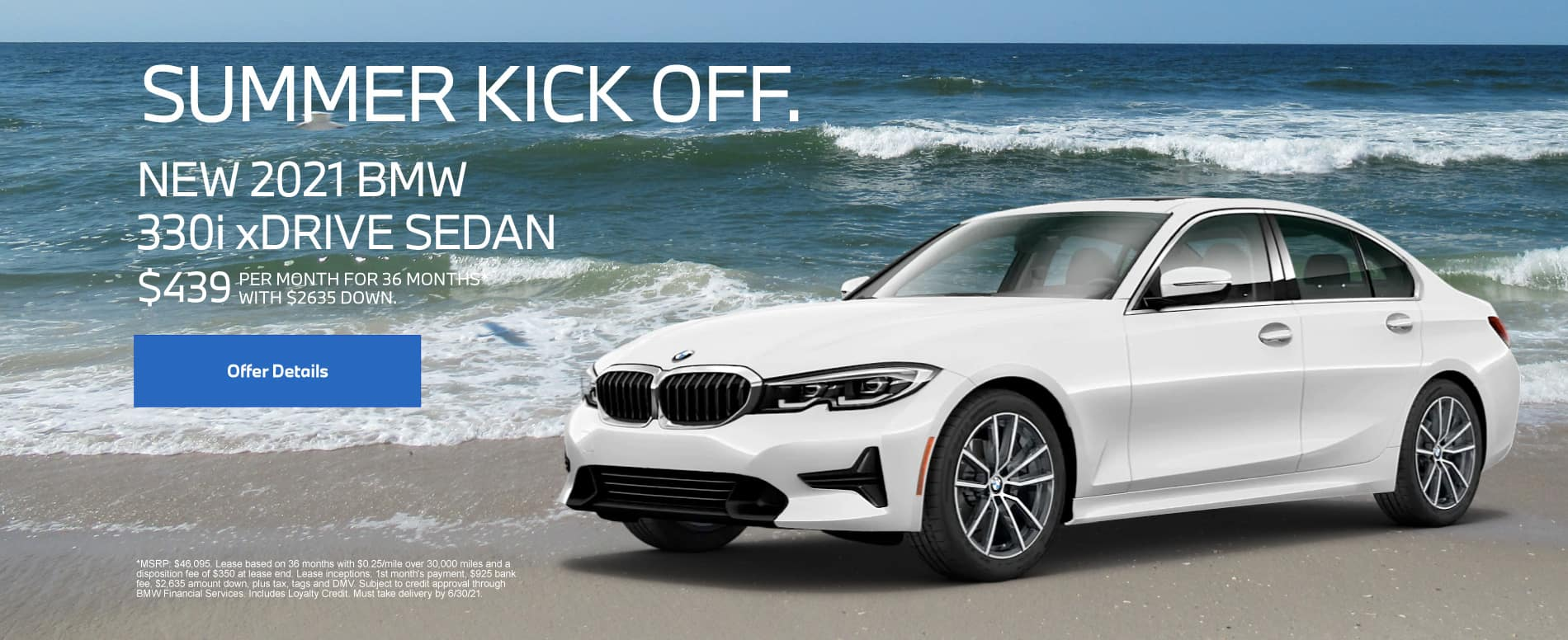 New 2021 BMW 330i xDrive Sedan- $439 per month for 36 months With $2635 down*