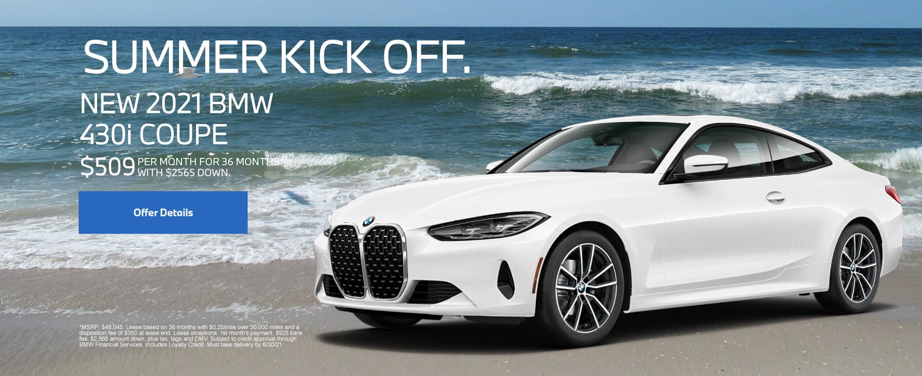 New 2021 BMW 430i Coupe - $509 per month for 36 months With $2565 down*