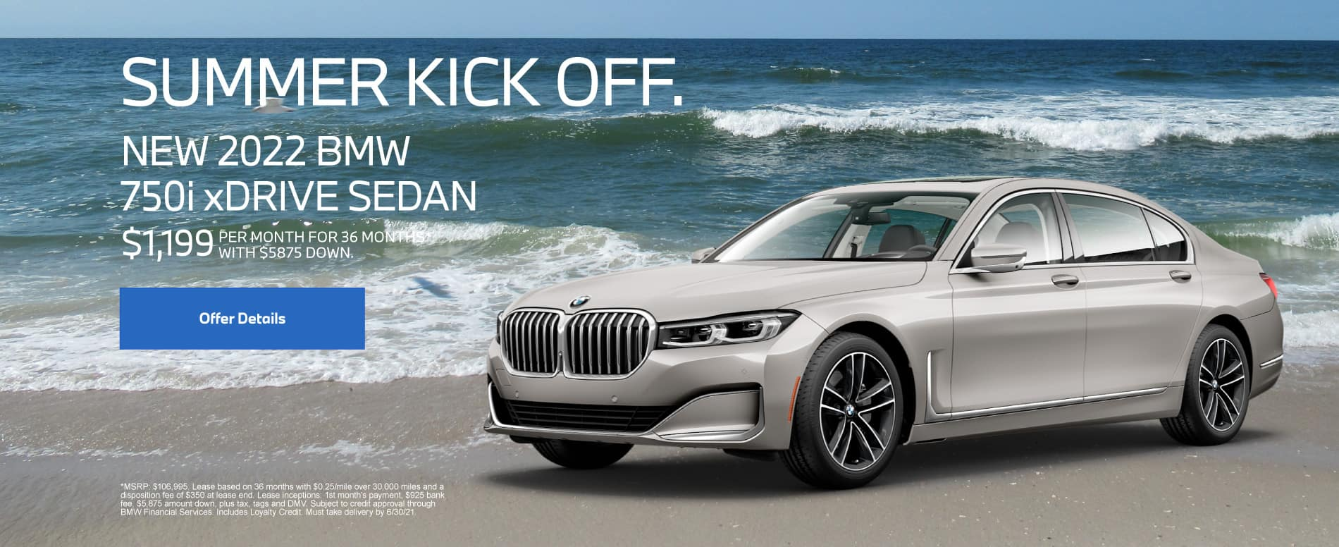 New 2022 BMW 750i xDrive Sedan - $1,199 per month for 36 months With $5,875 down*