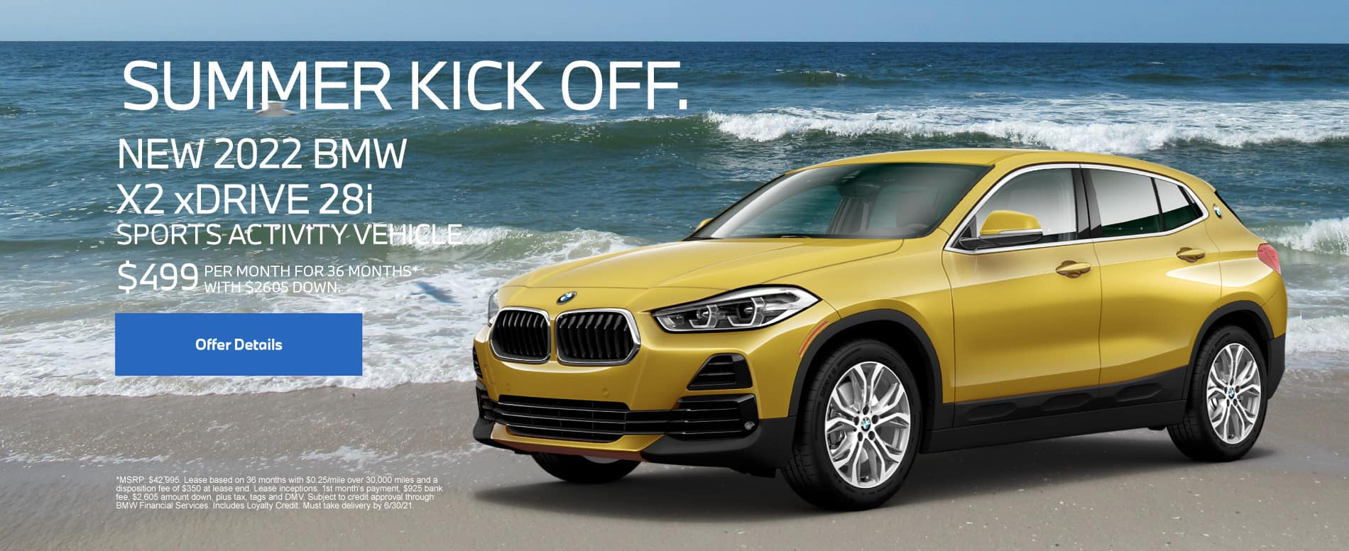 2022 BMW X2 xDrive28i Sports Activity Vehicle - $499 per month for 36 months With $2605 down*
