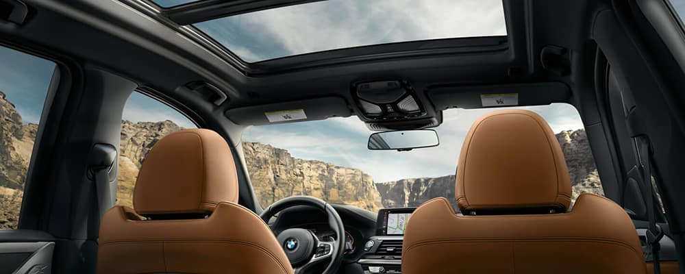 Good looking out. The BMW X3's wide Panoramic Moonroof creates a rich ambience for every passenger
