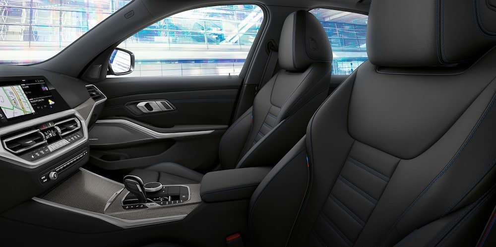Leather seats in a new BMW 3 Series interior